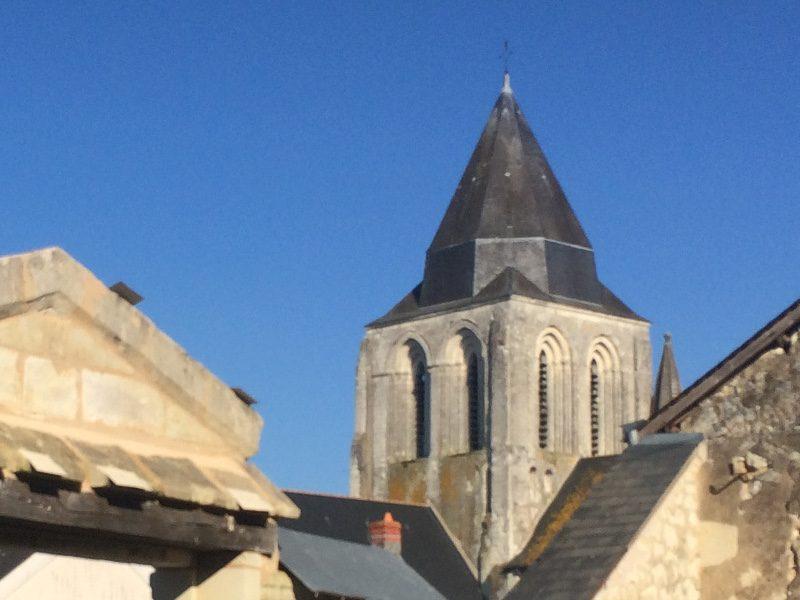 Clocher de l'église vue du jardin